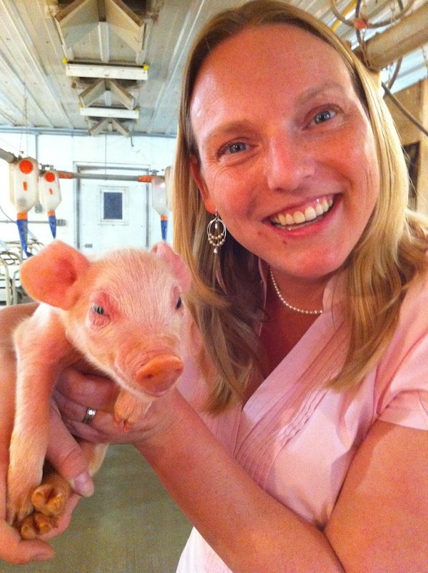 Visiting a large pig farm as part of my self-driven agricultural education.