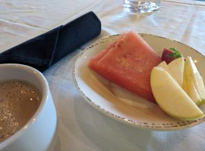 Arctic apples, watermelon, and coffee.